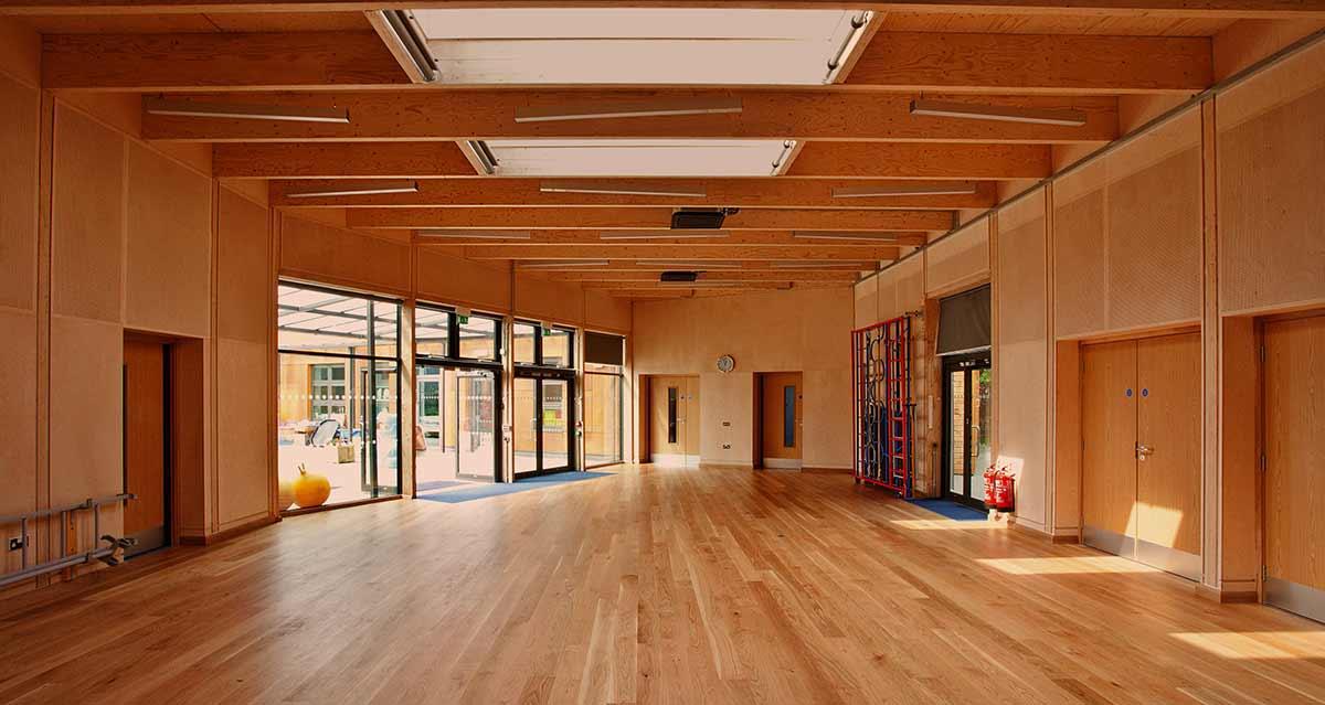 Large wood veneer school project